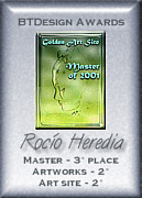 Rocío Heredia - 3rd Place of the Master of 1997 Award, 2nd Place Best Artworks of 1997, and 2nd Place Best Art Site of 1997