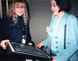 Rocio Heredia - Metalsmith and    Ana Pellicer - Sculptor at the SNAG Conference San Francisco 2003